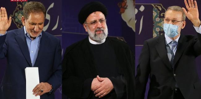 سه نامزد شاخص انتخابات جهانگیری، رییسی و لاریجانی خواهند بود