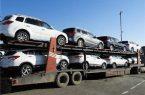 انتقال خودروهای لاکچری پلاک غیربومی به گیلان با استفاده از تریلیهای ویژه حمل خودرو/فیلم