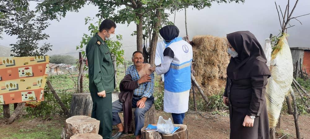 واکسیناسیون کرونا درروستاهای تالش